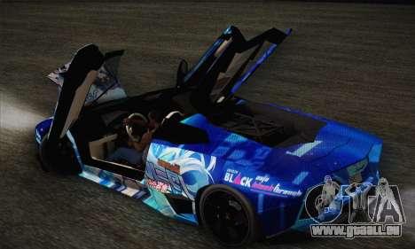 Lamborghini Reventon Black Heart Edition pour GTA San Andreas vue de dessus