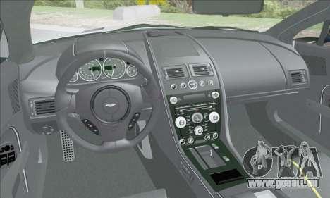 Aston Martin V12 Vantage S 2013 pour GTA San Andreas vue de dessous