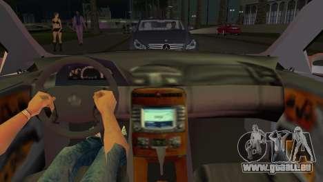 Mercedes-Benz CL65 AMG pour GTA Vice City sur la vue arrière gauche