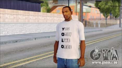 YOLO T-Shirt pour GTA San Andreas