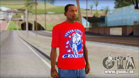 John Cena Red Attire T-Shirt pour GTA San Andreas