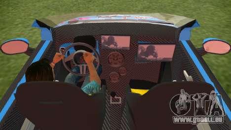 Fiat 500 ZTuning pour GTA Vice City sur la vue arrière gauche