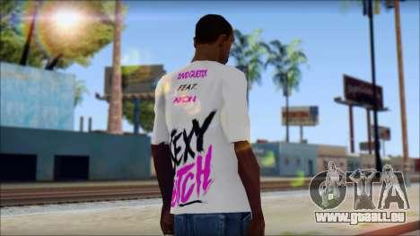 David Guetta Sexy Bitch T-Shirt für GTA San Andreas zweiten Screenshot