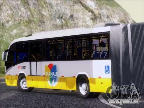 Neobus Mega BRT Volvo B12M-340M pour GTA San Andreas sur la vue arrière gauche