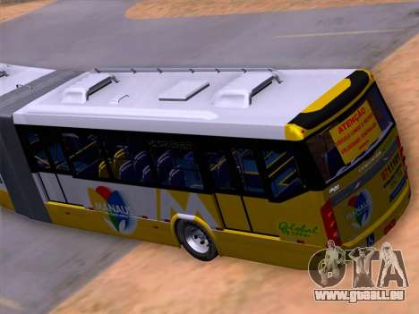 Прицеп Neobus Mega BHNS Volvo B12-340M pour GTA San Andreas vue de dessous