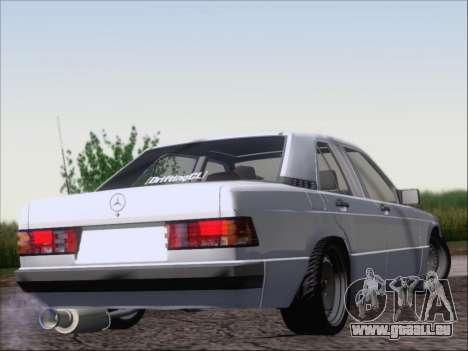 Mercedes Benz 190E Drift V8 für GTA San Andreas rechten Ansicht