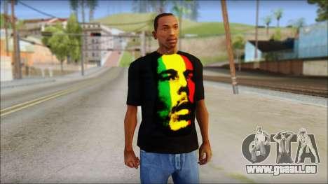 Bob Marley T-Shirt pour GTA San Andreas