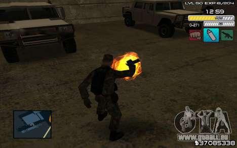 C-HUD by SampHack v.9 pour GTA San Andreas troisième écran