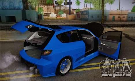 Mazda Speed 3 Tuning für GTA San Andreas Rückansicht