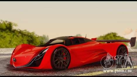 Mazda Furai 2008 für GTA San Andreas Innenansicht