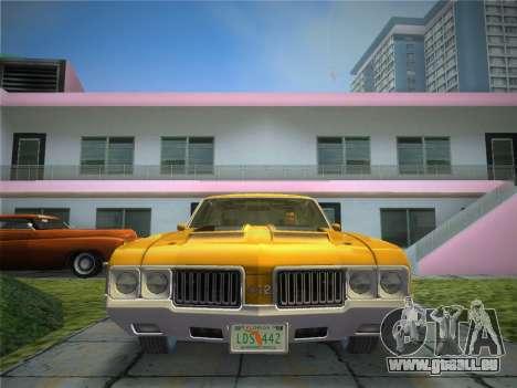 Oldsmobile 442 1970 pour GTA Vice City vue arrière