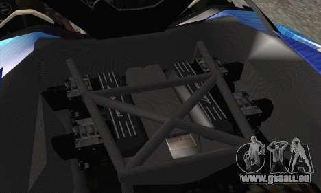 Lamborghini Reventon Black Heart Edition pour GTA San Andreas vue de dessous