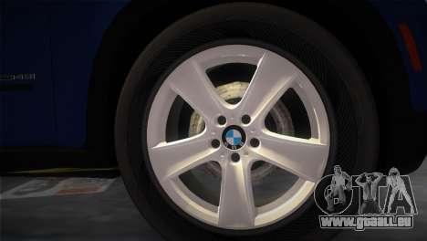 BMW X5 2009 pour GTA Vice City sur la vue arrière gauche