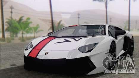 Lamborghini Aventador LP700-4 2012 pour GTA San Andreas vue de dessus