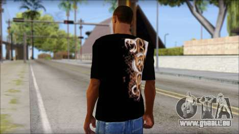 Randy Orton Black Apex Predator T-Shirt für GTA San Andreas zweiten Screenshot