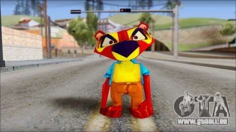 Chang the Firefox from Fur Fighters Playable pour GTA San Andreas deuxième écran