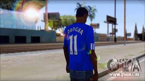 Chelsea F.C Drogba 11 T-Shirt für GTA San Andreas zweiten Screenshot