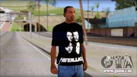 Metallica T-Shirt pour GTA San Andreas