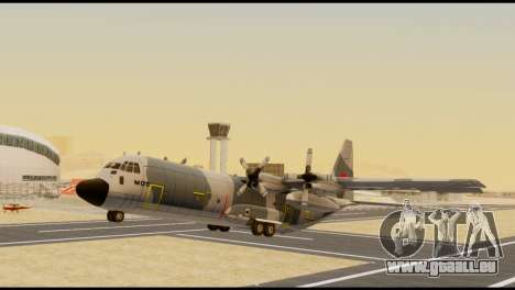 C-130 Hercules Indonesia Air Force für GTA San Andreas rechten Ansicht