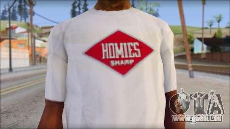 CM Punk T-Shirt pour GTA San Andreas troisième écran