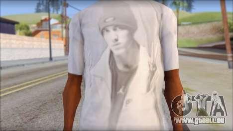 Eminem T-Shirt für GTA San Andreas dritten Screenshot
