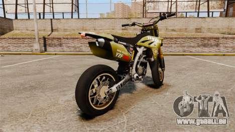 Yamaha YZF-450 v1.16 pour GTA 4 Vue arrière de la gauche