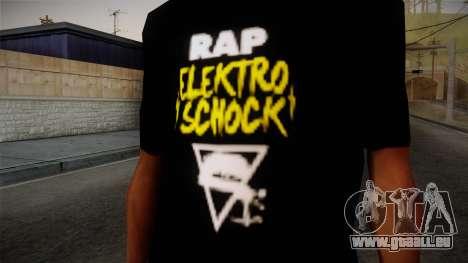 Silla Rap Elektro Schock Shirt pour GTA San Andreas troisième écran
