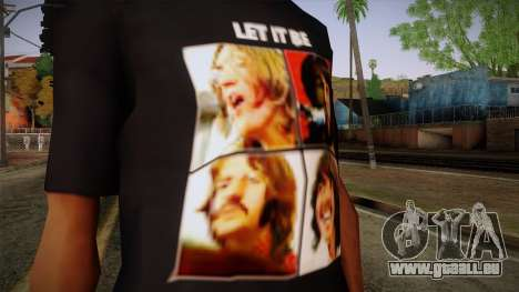 The Beatles Let It Be T-Shirt pour GTA San Andreas troisième écran