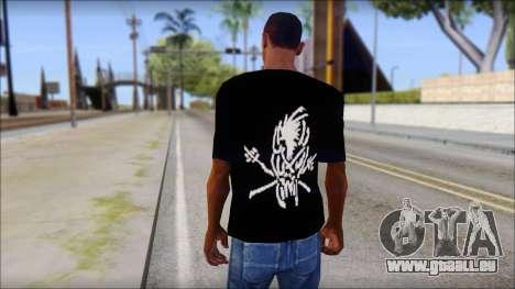 Metallica Logos T-Shirt für GTA San Andreas zweiten Screenshot