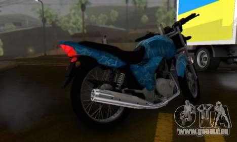 Yamaha YBR Blue Star für GTA San Andreas Rückansicht
