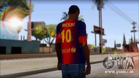 Barcelona Messi T-Shirt für GTA San Andreas zweiten Screenshot