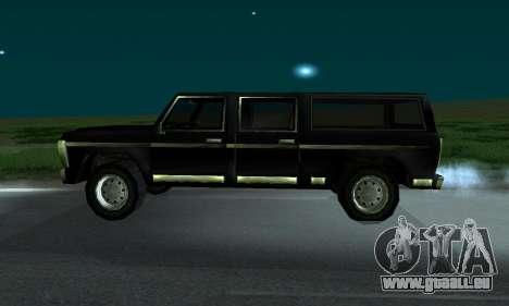 New FBI Rancher pour GTA San Andreas sur la vue arrière gauche