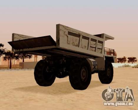 Mis À Jour Dumper pour GTA San Andreas sur la vue arrière gauche