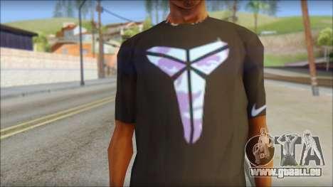 Kobie Shirt pour GTA San Andreas troisième écran