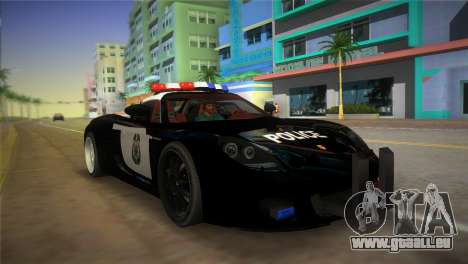 Porsche Carrera GT Police pour GTA Vice City