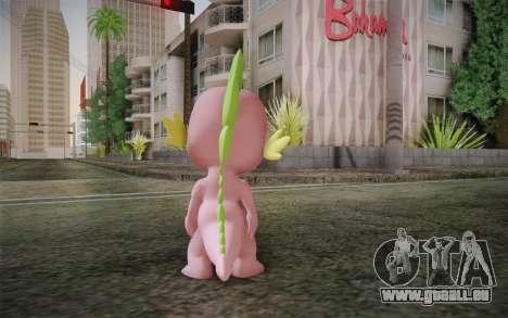 Spike from My Little Pony Friendship pour GTA San Andreas deuxième écran