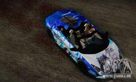 Lamborghini Reventon Black Heart Edition pour GTA San Andreas vue arrière