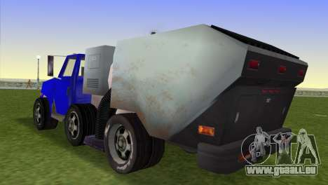 Le nouveau camion à ordures Bêta pour une vue GTA Vice City de la gauche