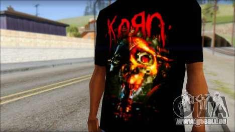 KoRn T-Shirt Mod pour GTA San Andreas troisième écran