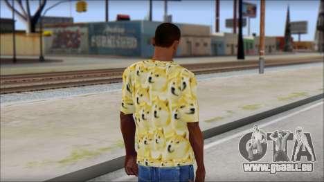 Doge T-Shirt für GTA San Andreas zweiten Screenshot