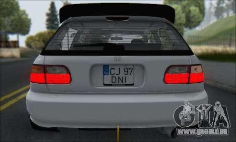 Honda Civic 1995 pour GTA San Andreas moteur