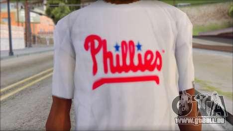 Phillies T-Shirt für GTA San Andreas dritten Screenshot