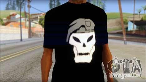 Black Ops T-Shirt pour GTA San Andreas troisième écran