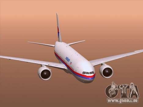 Boeing 777-2H6ER Malaysia Airlines für GTA San Andreas Räder