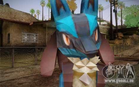 Lucario from Pokemon für GTA San Andreas dritten Screenshot