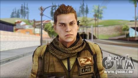Piers Nivans Resident Evil 6 pour GTA San Andreas troisième écran