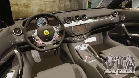 Ferrari FF 2011 pour GTA 4 est une vue de l'intérieur