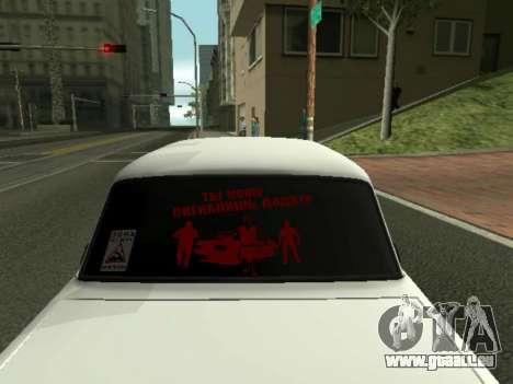 VAZ 2107 für GTA San Andreas zurück linke Ansicht