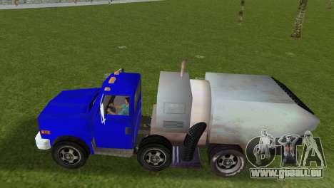 Le nouveau camion à ordures Bêta pour GTA Vice City sur la vue arrière gauche