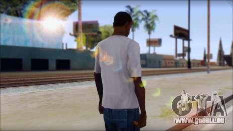 CM Punk T-Shirt für GTA San Andreas zweiten Screenshot